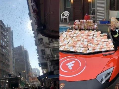 خودنمایی عجیب جوان میلیونر هنگ کنگی در خیابان