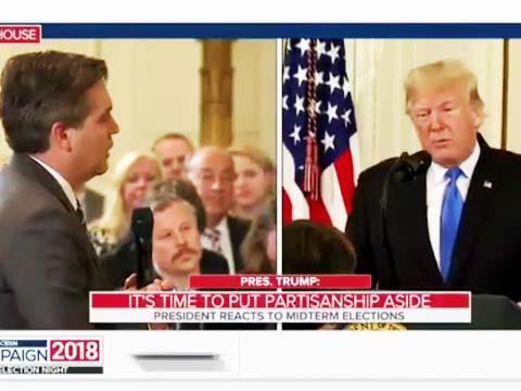 عصبانی شدن ترامپ از سوال خبرنگار سیانان در نشست خبری پس از انتخابات میاندورهای آمریکا