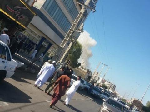 حادثه تروریستی  در بلوار شهید ریگی چابهار