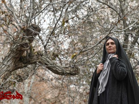 رویا تیموریان و مسعود رایگان، هنگامه قاضیانی و مهدی پاکدل در سريال هم گناه